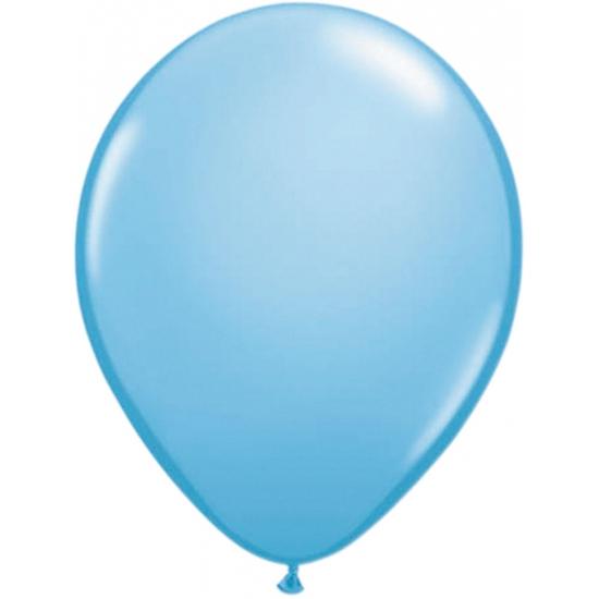 Ballonnen lichtblauw 50 stuks
