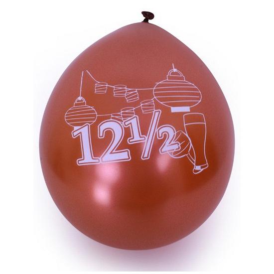 Ballonnen met 12 5 jaar print