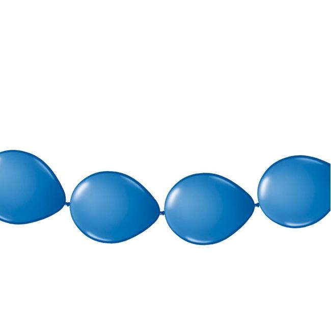 Ballonnen slinger blauw 3 meter