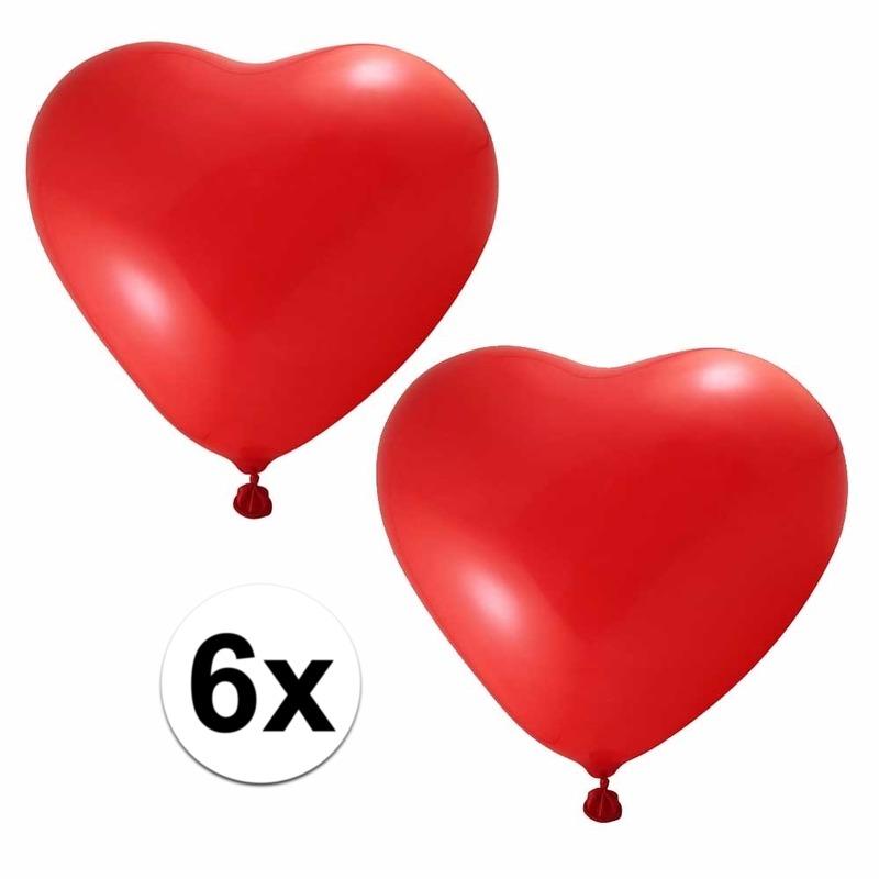 Ballonnetjes hartjes rood