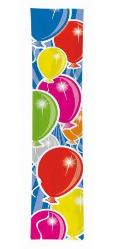 Banner ballonnen gekleurd 60 x 300 cm