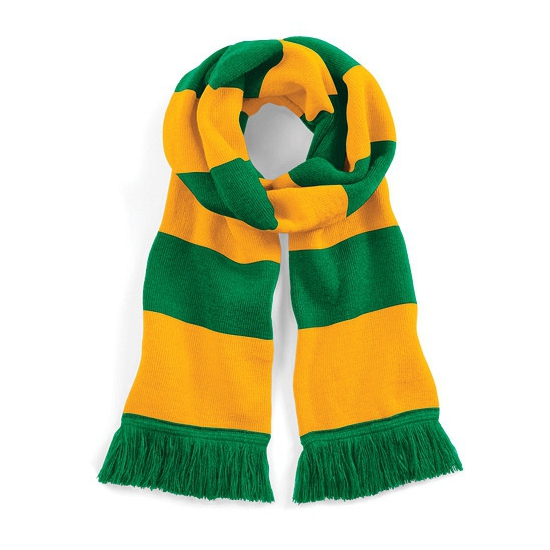 Beechfield retro sjaal groen geel