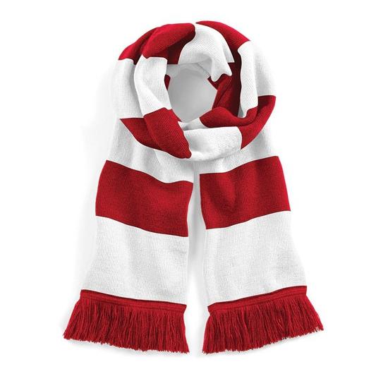 Beechfield retro sjaal rood wit