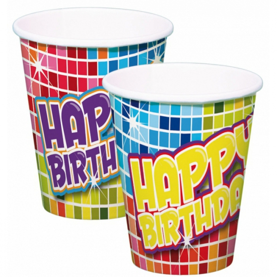 Bekertjes Happy Birthday 6 stuks