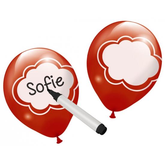 Beschrijfbare feestballonnen 6 stuks