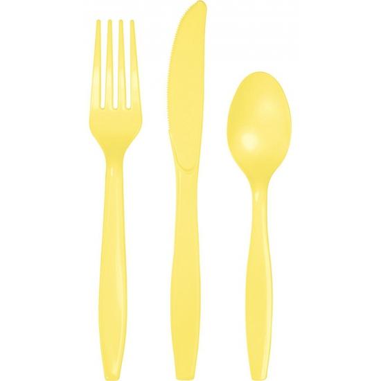 Bestek in het geel 24 delig