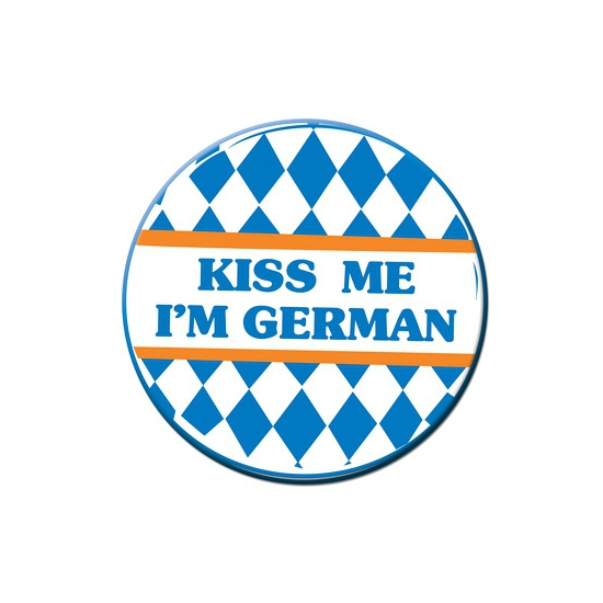 Bierfeest button Kiss me i am German