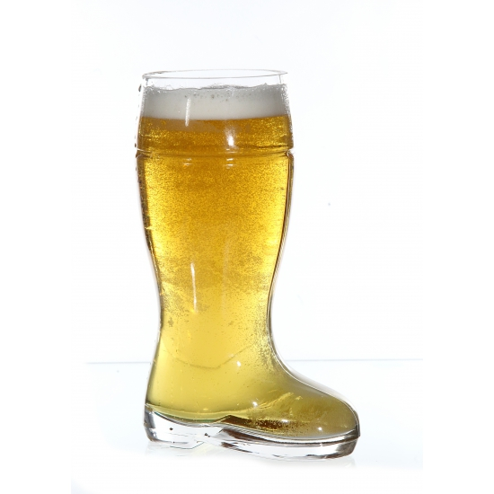 Bierstiefel glas in laars vorm liter
