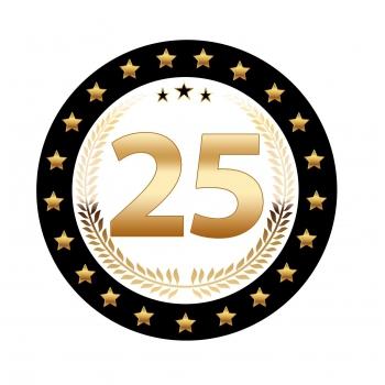 Bierviltjes 25 jaar deluxe
