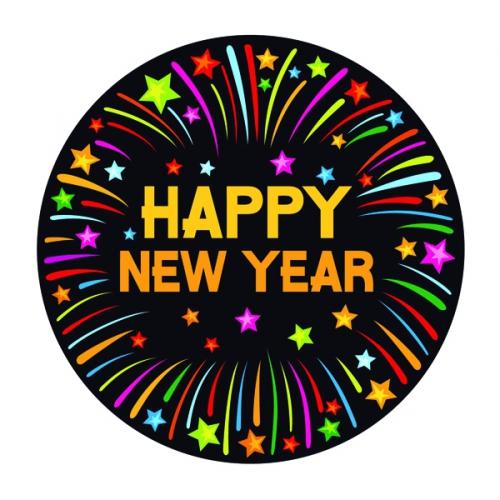 Bierviltjes happy new year thema print
