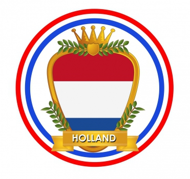 Bierviltjes in Hollands wapen thema