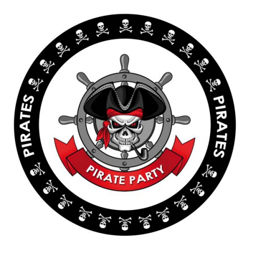 Bierviltjes Piraten thema print