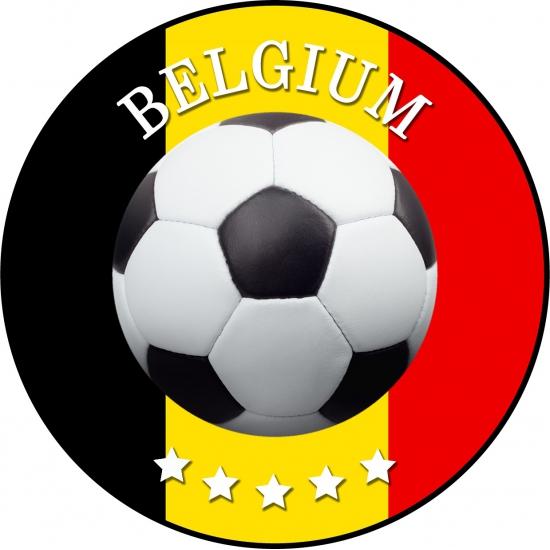 Bierviltjes voetbal in Belgisch thema