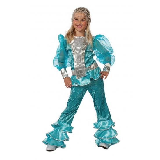 Blauw Abba kostuum voor kids