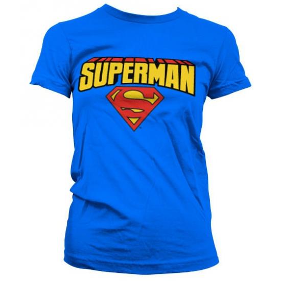 Blauw girly t shirt Superman