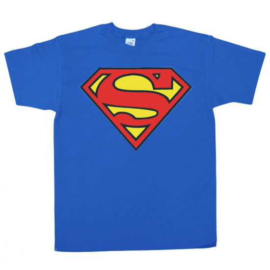 Blauw heren t shirt Superman logo