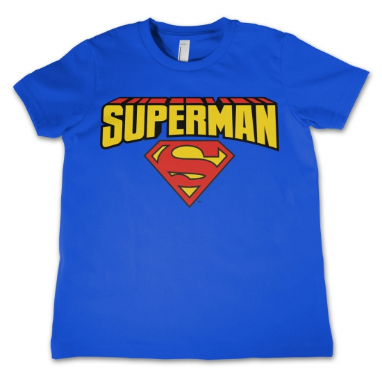 Blauw kinder t shirt Superman