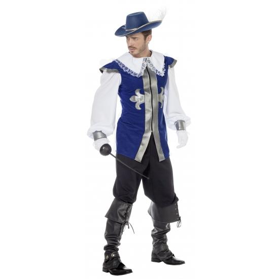Blauw musketier pak voor mannen