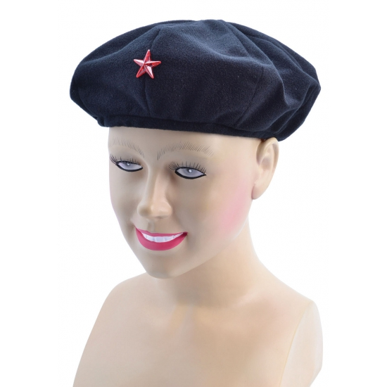 Blauwe Che Guevara baret voor volwassenen
