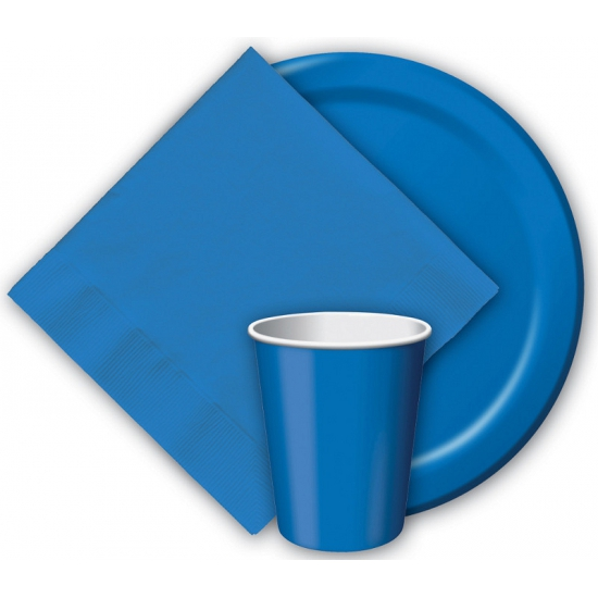 Blauwe feest bordjes 8 stuks