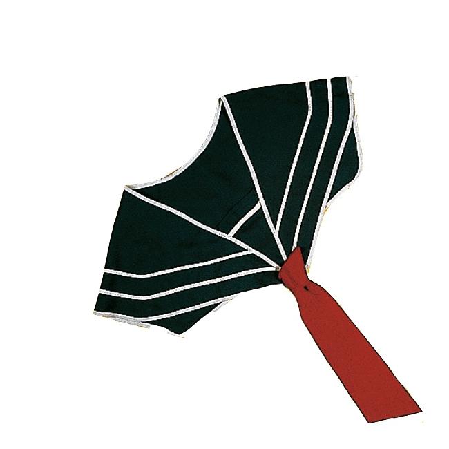 Blauwe matrozen kraag met rode das