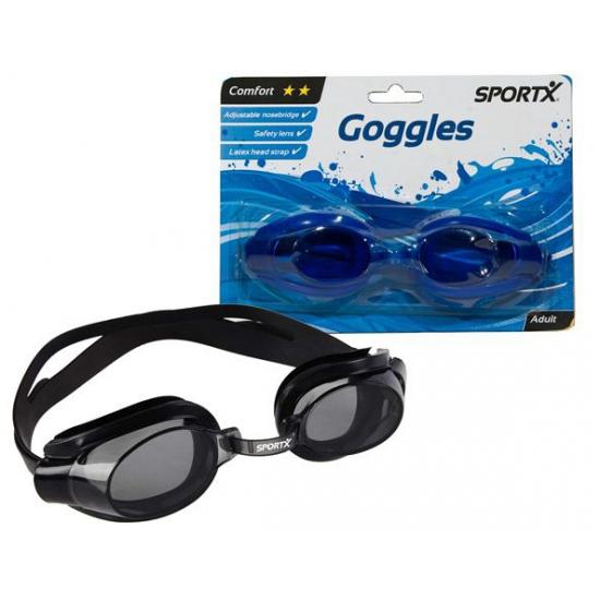 Blauwe schuimparty bril voor volwassenen