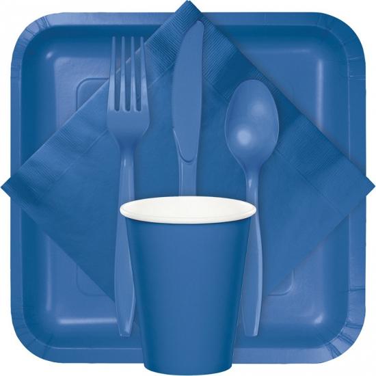 Blauwe servetten 20 stuks