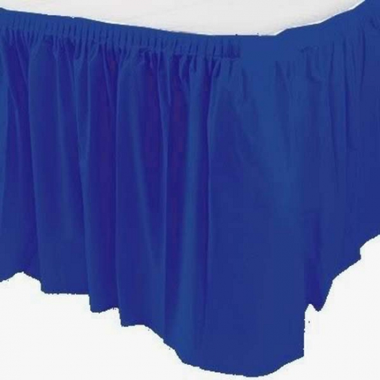 Blauwe tafelrokken
