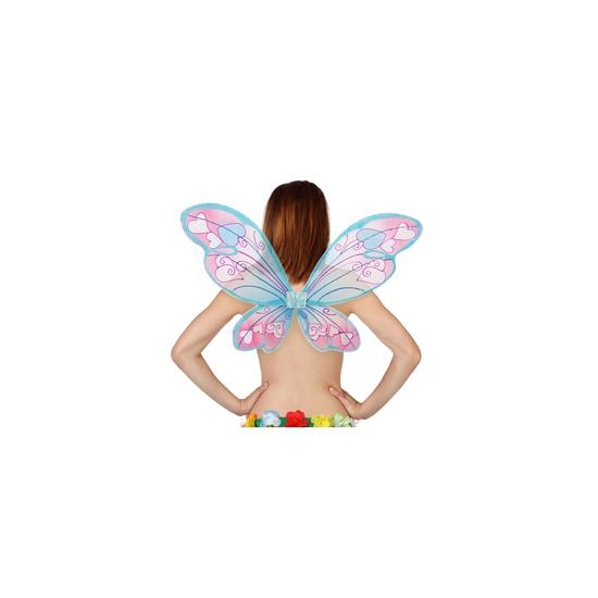 Blauwe vleugels met hartjes