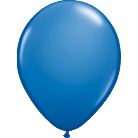 Blauwkleurige helium ballonnen metallic 50 stuks