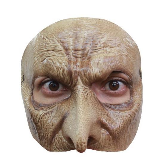 Bleek vampier masker half gezicht