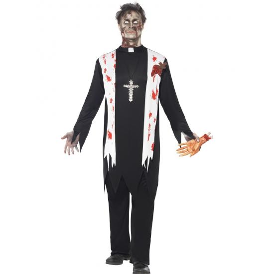 Bloederige horror priester kostuum