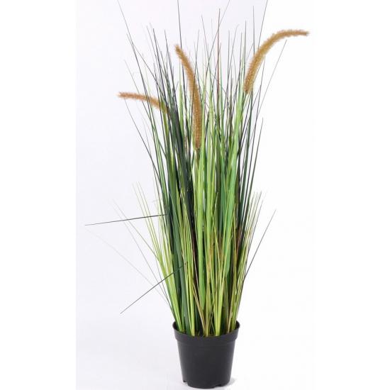 Bloeiende gras kunstplant 100 cm