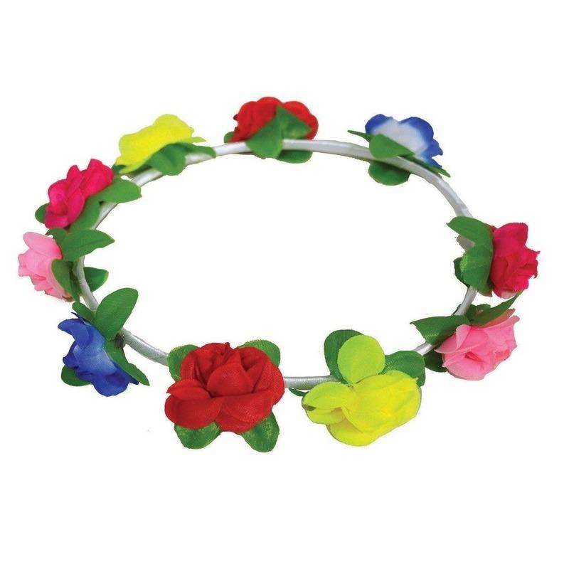 Bloemen hoofdband gekleurd