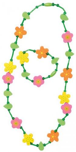 Bloemen ketting met armband