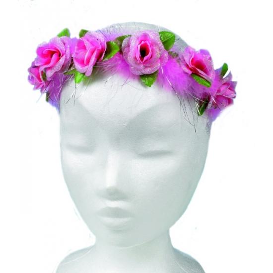 Bloemetjes hoofdband roze