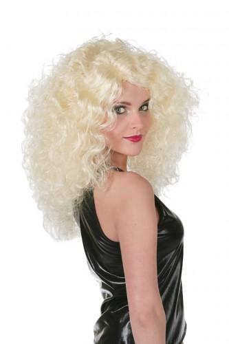 Blonde pruik voor dames met krullen