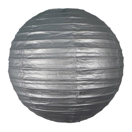 Bol lampionnen zilver 25 cm