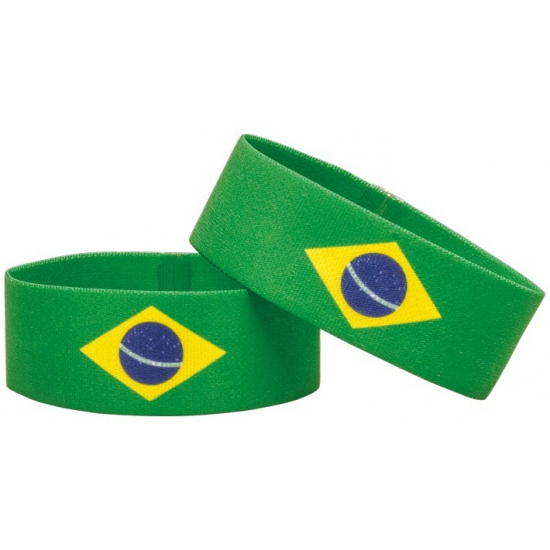 Brazilie fan armbandje