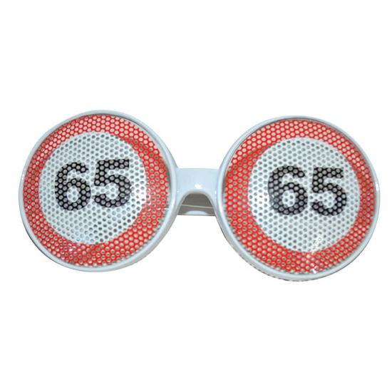 Bril 65 jaar verkeersbord