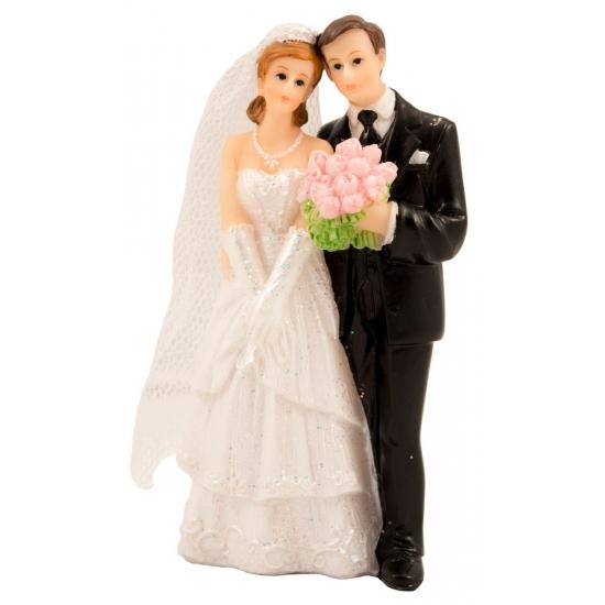 Bruidstaart decoratie bruidspaar klassiek