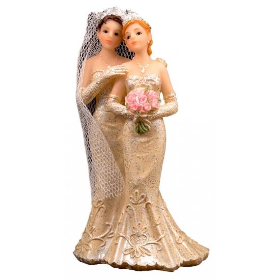 Bruidstaart decoratie bruidspaar twee vrouwen