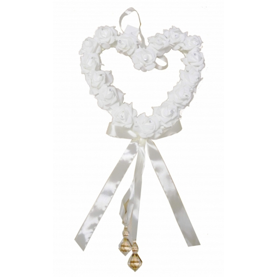 Bruiloft versiering hart met rozen