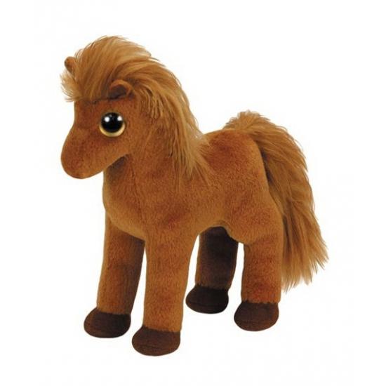 Bruin Ty Beanie paard Gallops 15 cm