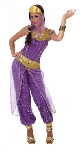 Buikdanseres kostuum paars en goud