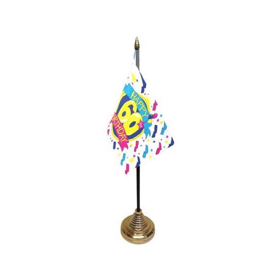Bureau tafelvlag Happy Birthday 60