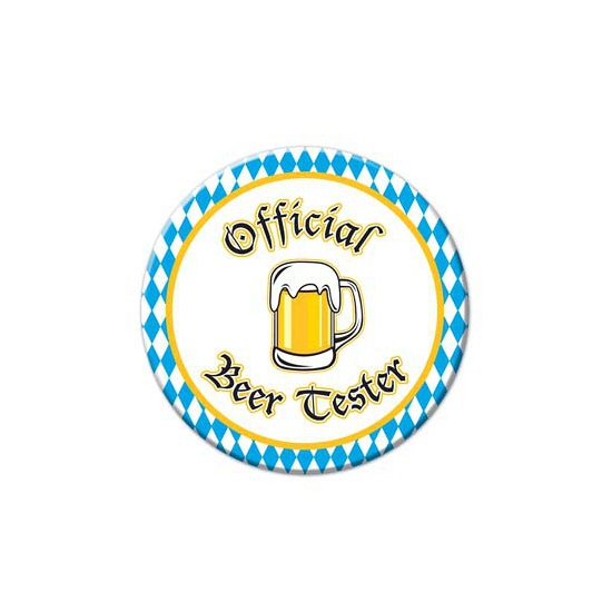 Buttons Official beer tester 8, 5 cm