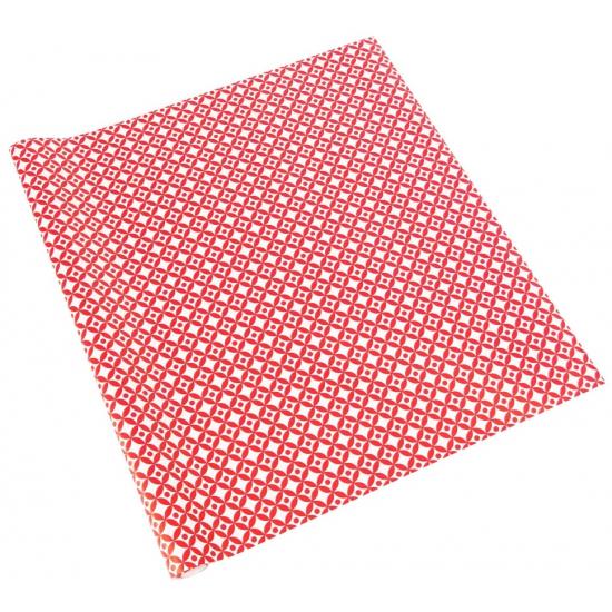 Cadeaupapier rood wit met patroon 70x200 cm