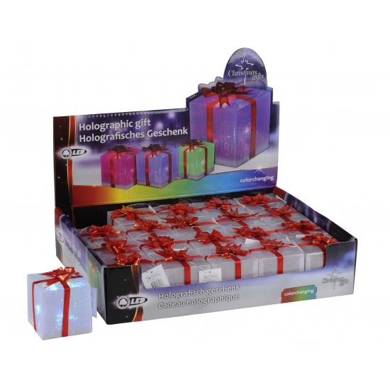 Cadeautje met LED licht 7 5 cm