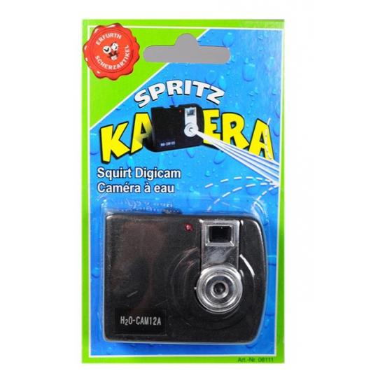Camera met waterspuit